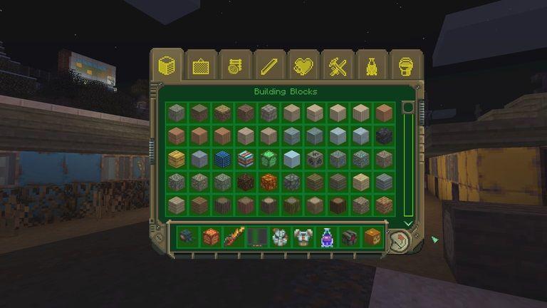 fallout dlc minecraft menu przedmiotow