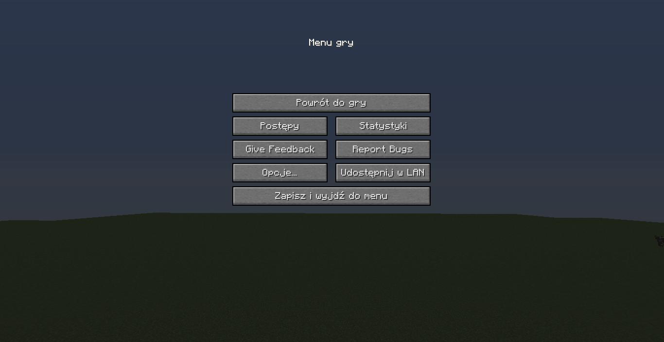 snapshot 18w43a nowe opcje w menu