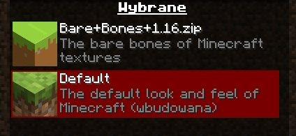 bare bones paczka zasobow tekstury minecraft