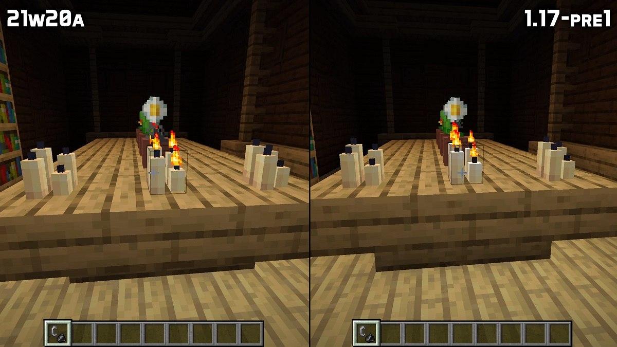 inna tekstura swieczek w minecraft podczas swiecenia