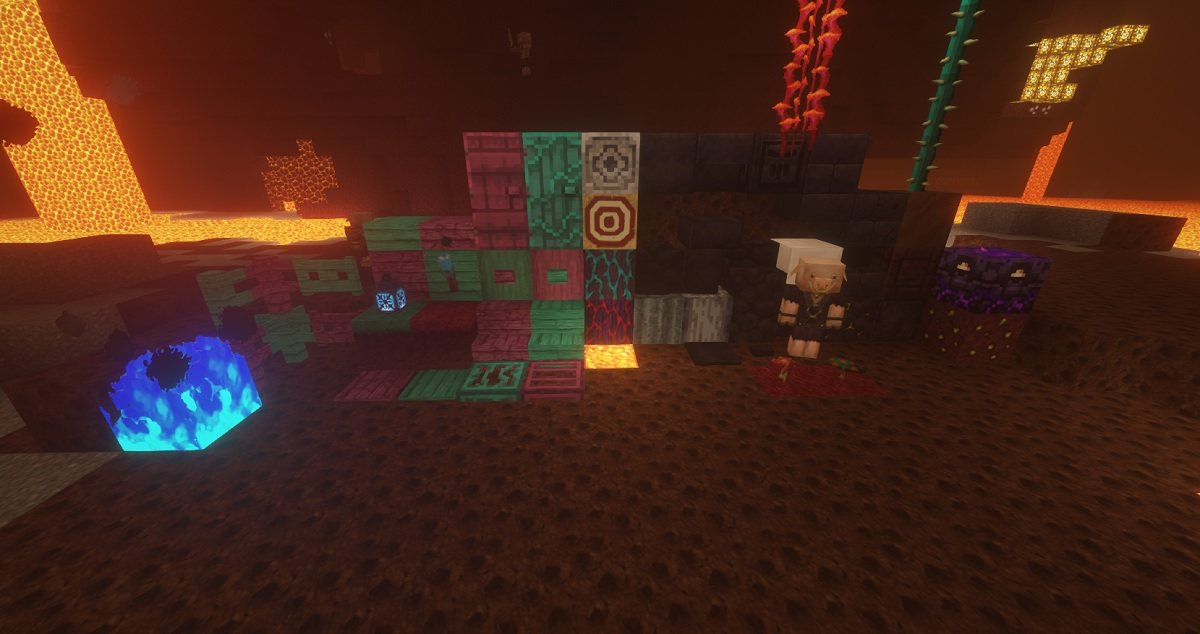 ChromaHills RPG tekstury minecraft bloki netheru 1.16.4