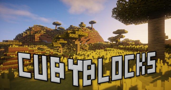 cubyblocks minecraft 3d tektury