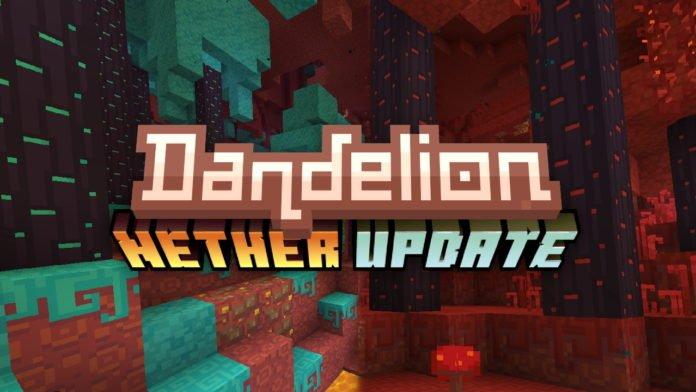 Dandelion logo aktualizacja Netheru 1.16 minecraft