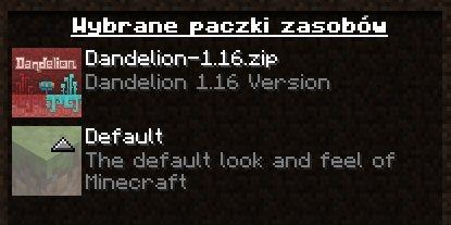 dandelion 1.16 aktualizacja netheru minecraft