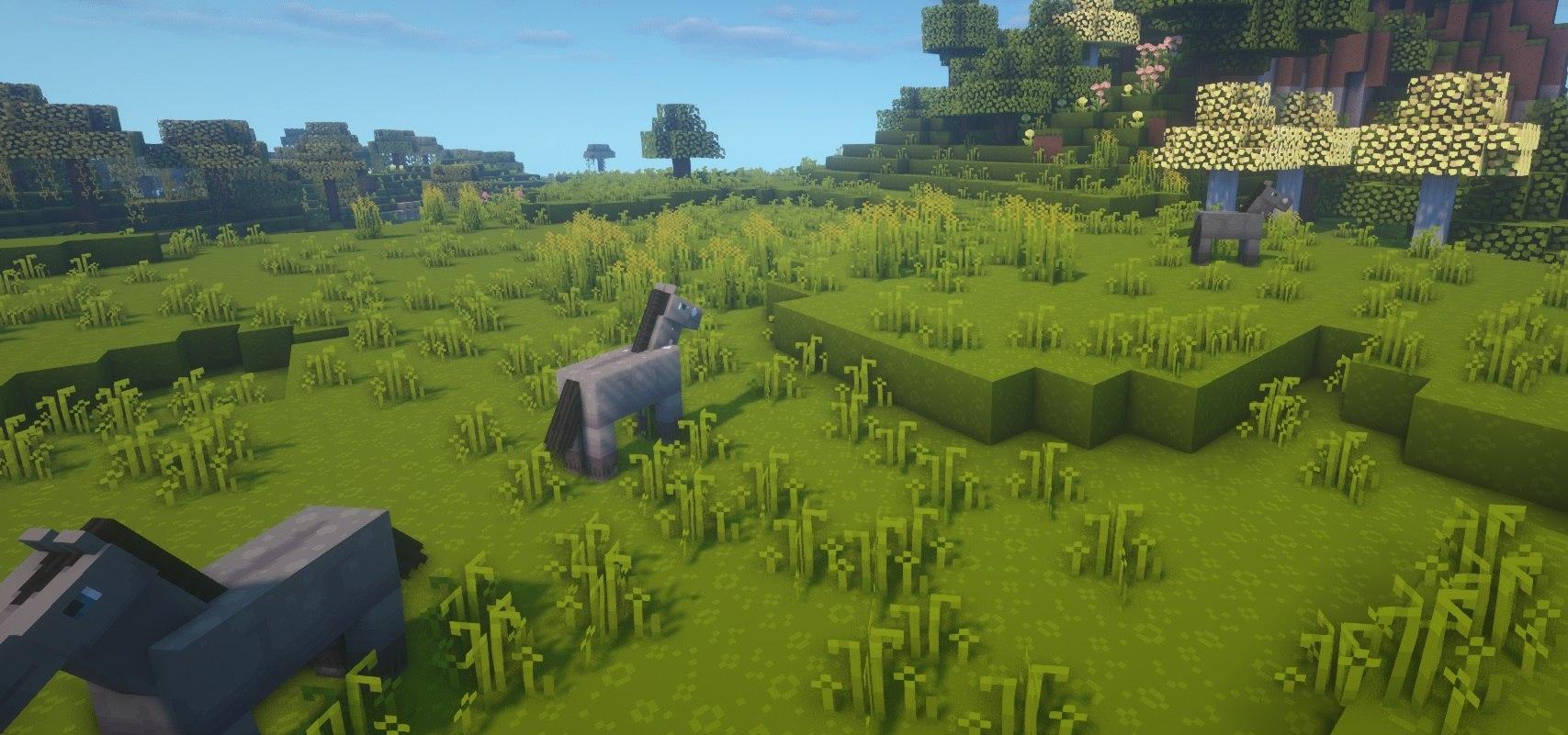 dandelion shadery BSL 1.15.2 minecraft konie