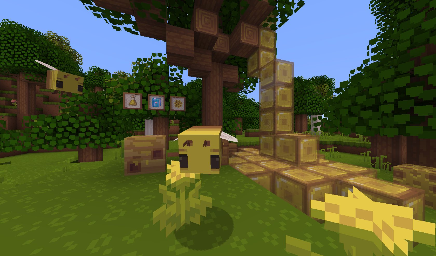 dandelion tekstury pszczoly minecraft