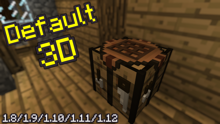 default 3d minecraft tekstury resource pack