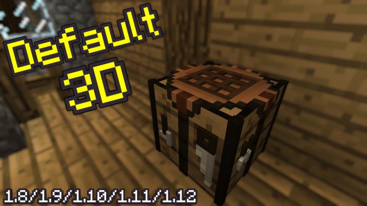 default 3d minecraft tekstury resource pack