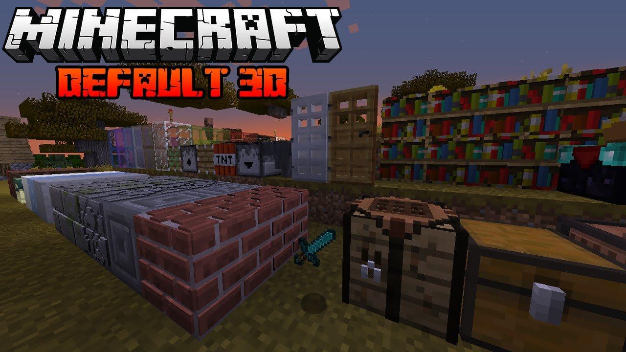 default 3d minecraft texture przeglad
