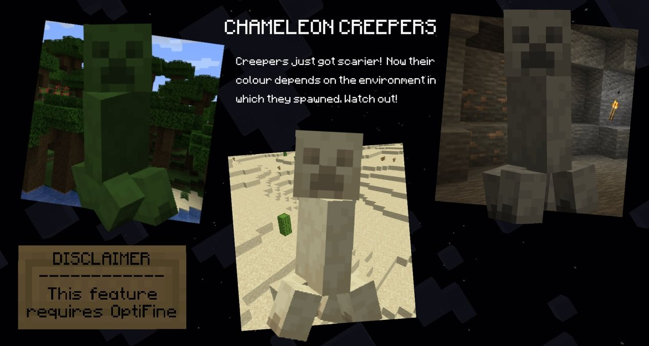 DefaultEX creepers optifine