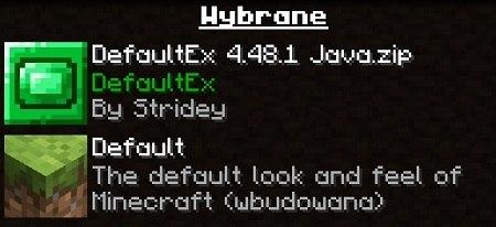 DefaultEX paczka zasobow minecreaft 1.16.2