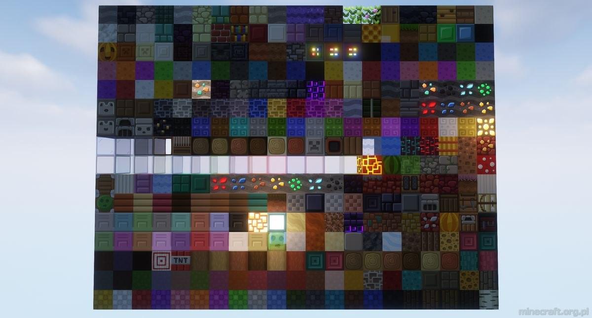 MadPixels resourcepack comparsion 64x 16x1