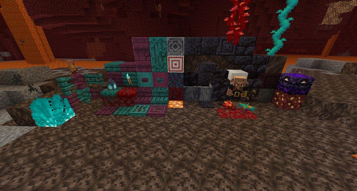 tekstury podstawowe minecraft 1.16.2 nether