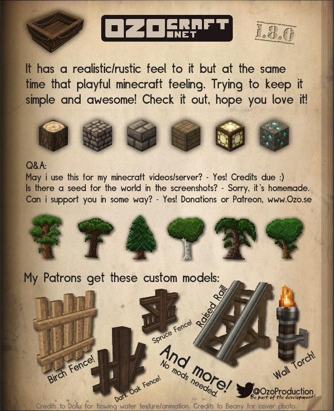 ozo-craft-1.8.0-minecraft-paczka-zasobow-resource-pack
