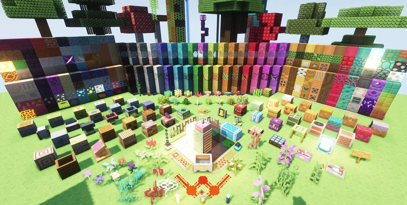 PastelCraft resourcepack all blocks and work tables