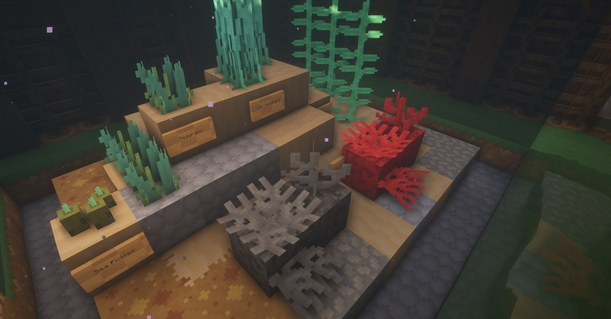 PastelCraft resourcepack ocean flora