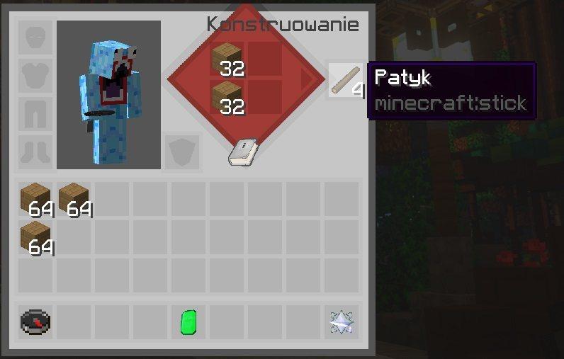 SapixCraft tekstury minecraft gui podreczny crafting przedmiotow