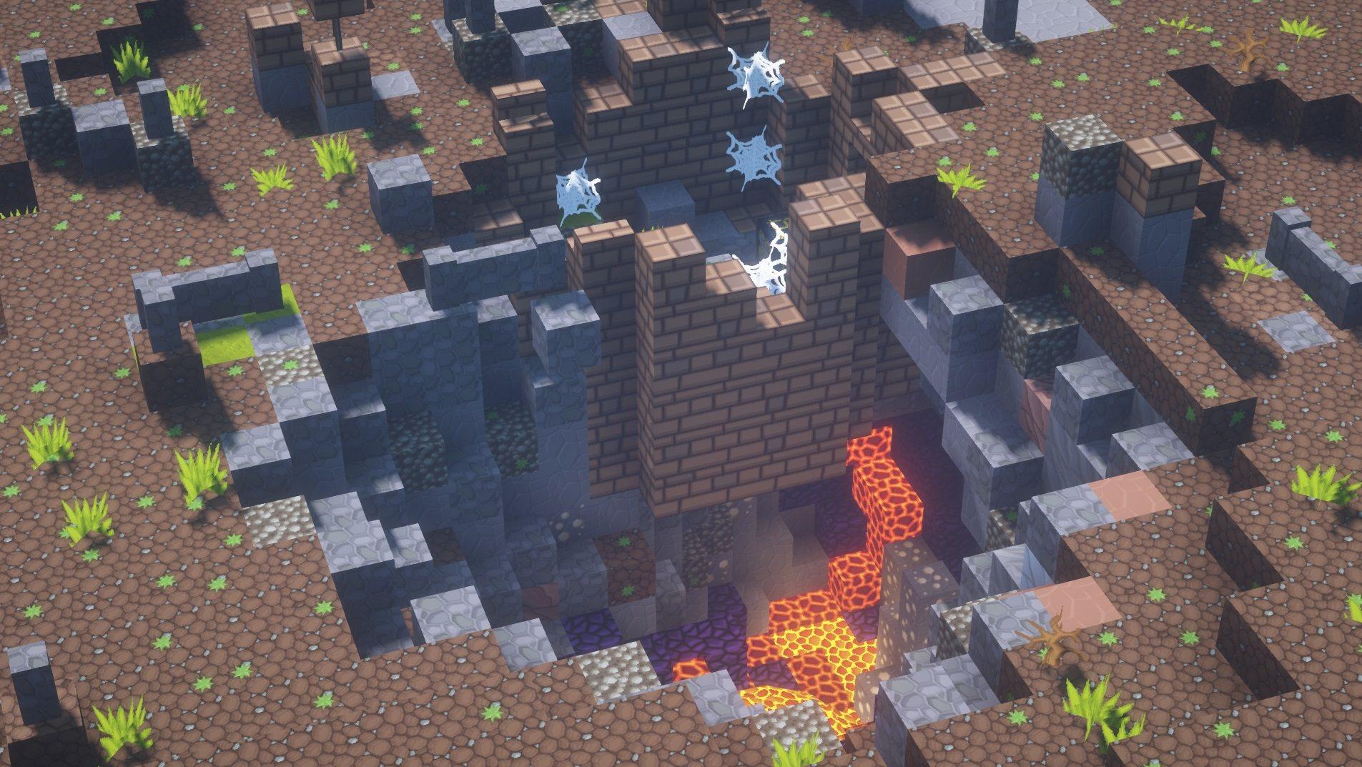 SapixCraft tekstury minecraft jaskinie lawa cave
