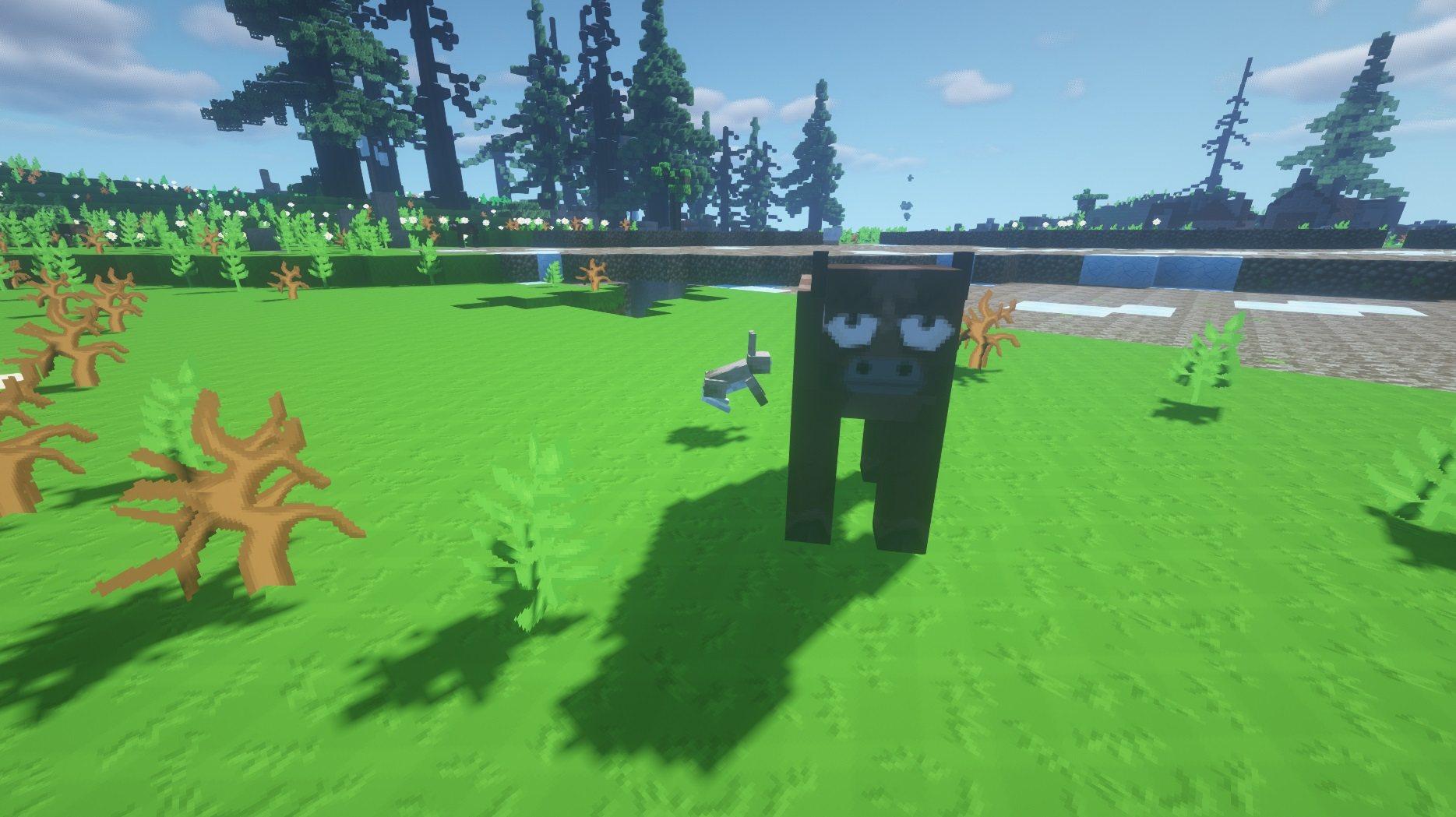 SapixCraft tekstury minecraft mob krowa zajac