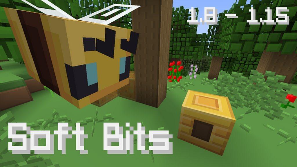 Soft Bits paczka zasobow tekstury minecraft 1.15