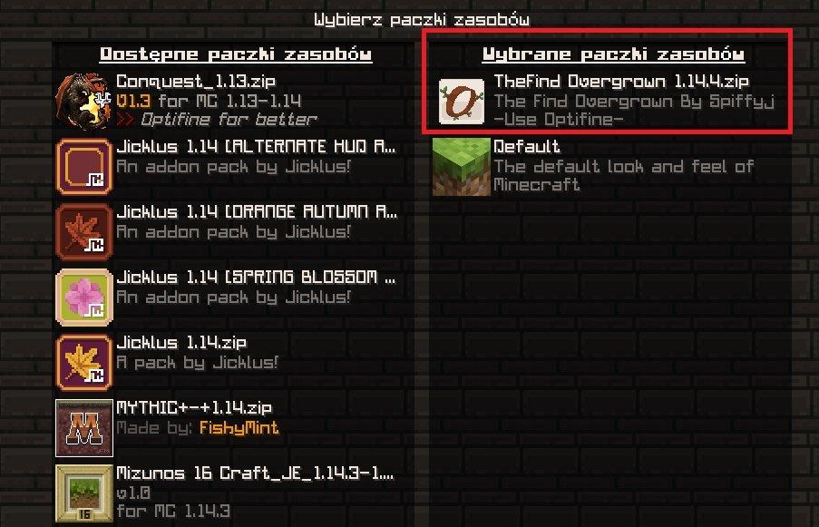 the find overgrown tekstury 1.15.1 1.14.4 instalacja