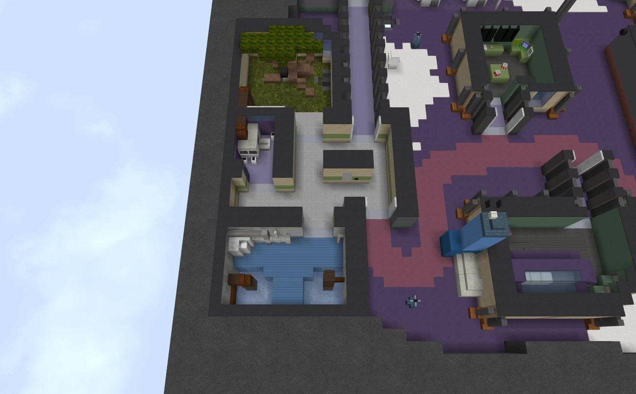 Polus map Among Us in minecraft boiler room