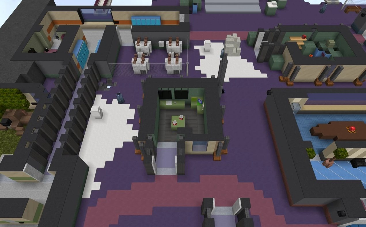Polus map Among Us in minecraft communications