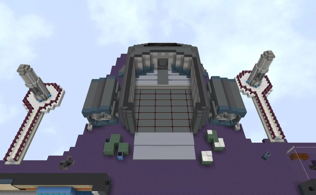 Polus map Amoung Us in minecraft dropship