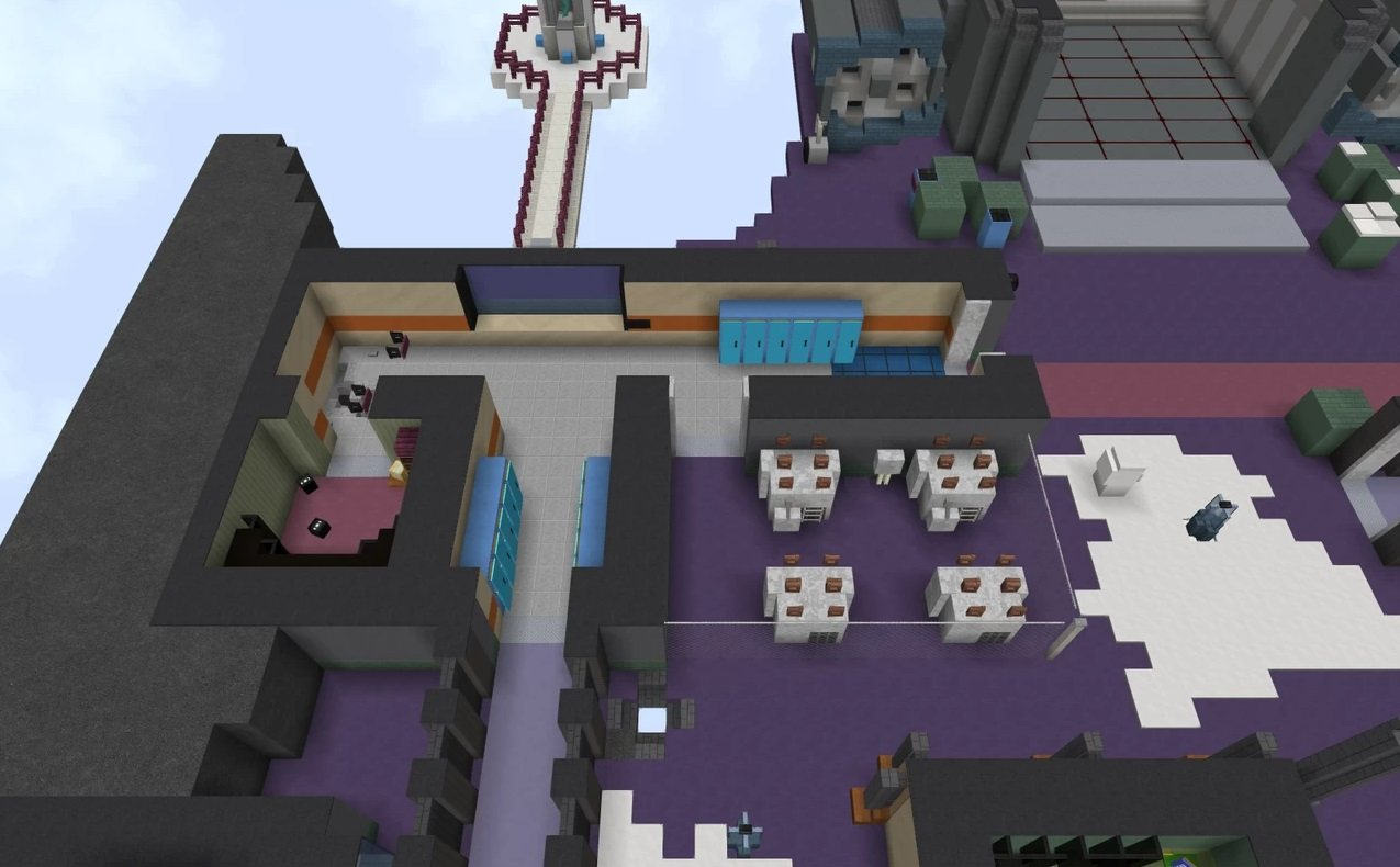 Polus map Among Us in minecraft electrical