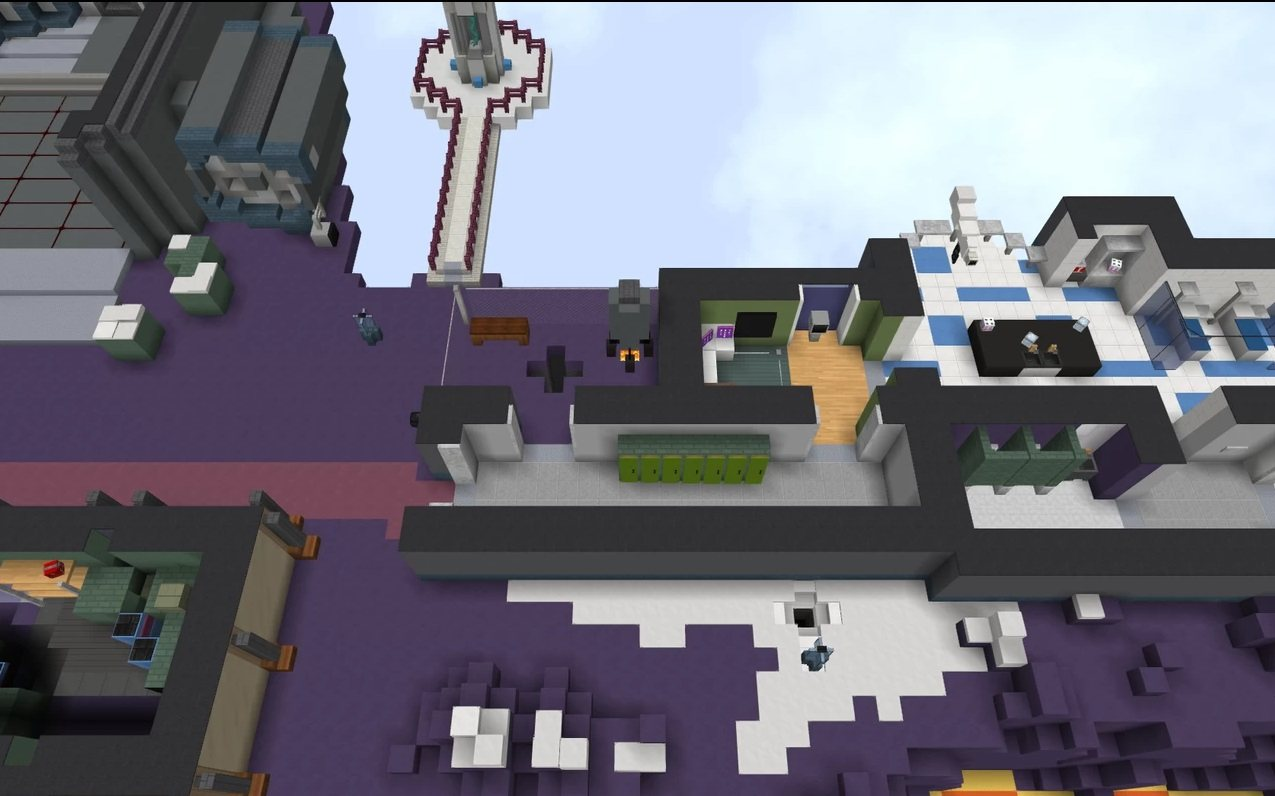 Polus map Among Us in minecraft laboratory