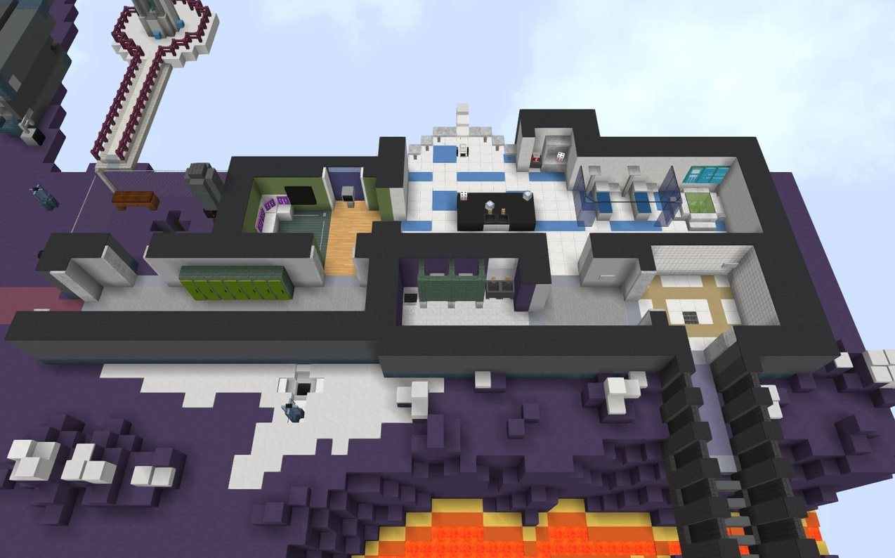 Polus map Among Us in minecraft second laboratory