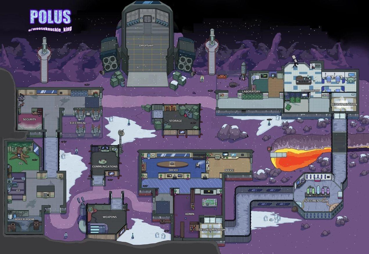 Polus map Amoung Us