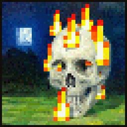 skull on fire original minecraft