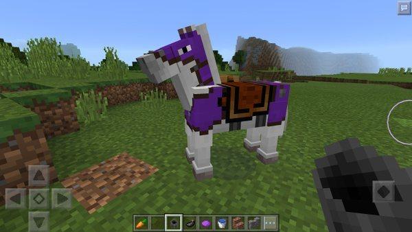 farbowana zbroja dla konia minecraft mcpe 0.15.0