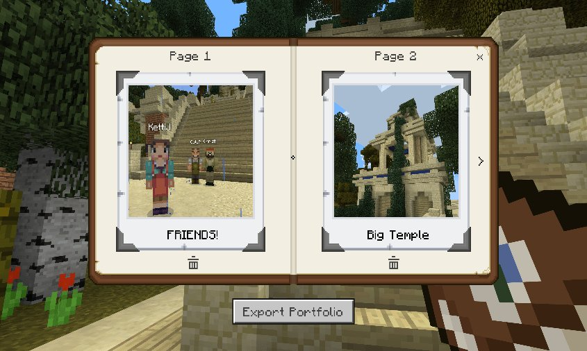 minecraft education portfolio