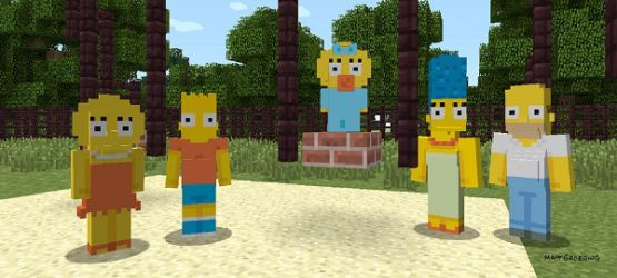 minecraft the simpsons