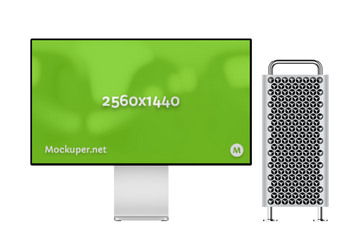Mac Pro + Display | Mockuper.net