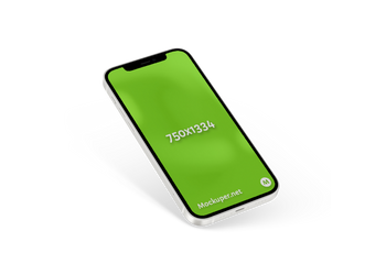 iPhone 12 white | Mockuper.net