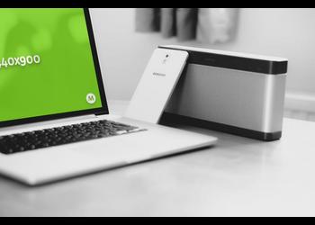 MacBook Pro  and speaker | Mockuper.net