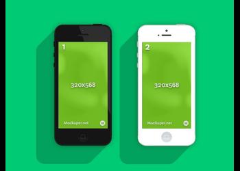 iPhone 5 Flat | Mockuper.net