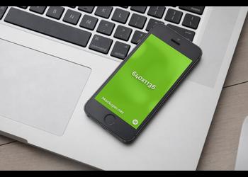 Black iPhone SE | Mockuper.net