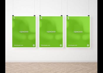 Triple wall posters | Mockuper.net