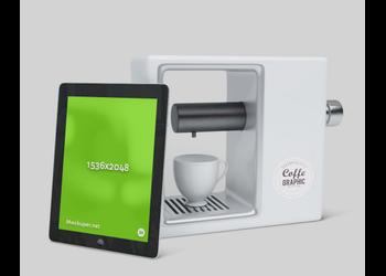 iPad & Coffeemaker | Mockuper.net