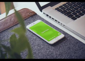 White iPhone 6 on wool felt case | Mockuper.net