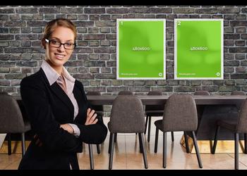 Businesswoman posters | Mockuper.net