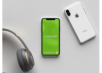 iPhone X earphones | Mockuper.net