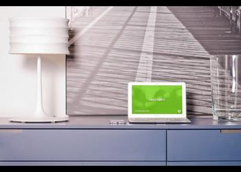 MacBook Air in modern interior | Mockuper.net