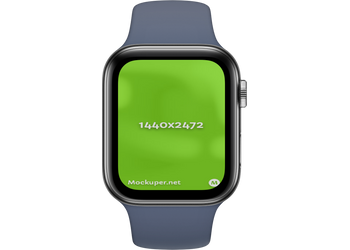 Apple Watch Closedsteelblue | Mockuper.net