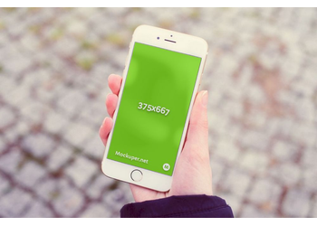 iPhone 6 in hand | Mockuper.net