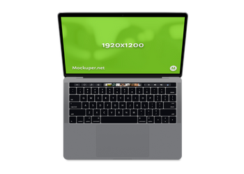 MacBook Pro Touchbar transparent background | Mockuper.net